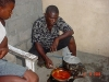 Meal time: Nii cooking for the children